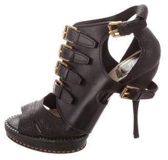 Christian Dior Leather Platform Booties