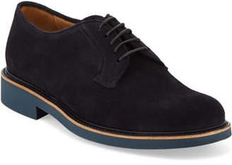 Giorgio Armani Men's Suede Low-Top Chukka Boots, Navy