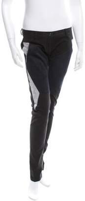 Jean-Pierre Braganza Low-Rise Color Block Pants w/ Tags