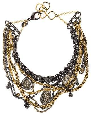 Erickson Beamon Crystal Multi Chain Bib Statement Necklace