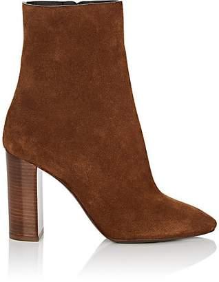 Saint Laurent Women's Loulou Suede Ankle Boots - Beige, Tan
