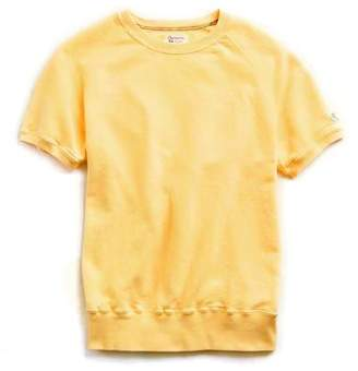 Todd Snyder + Champion Short Sleeve Sweatshirt in Golden Yellow