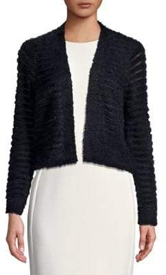 Calvin Klein Fluffly Long Sleeve Cropped Sweater