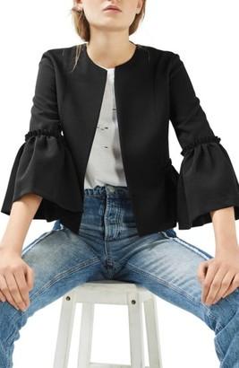 Women's Topshop Ruffle Crop Jacket $85 thestylecure.com
