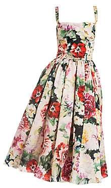 Dolce & Gabbana Dolce& Gabbana Dolce& Gabbana Women's Sleeveless Floral Organza Dress
