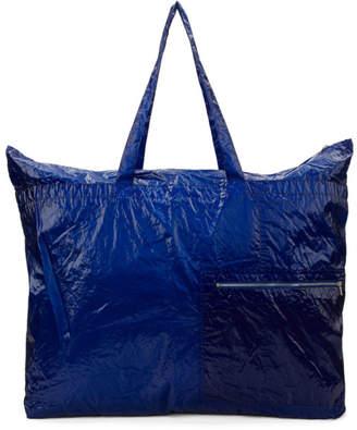 Dries Van Noten Blue Large Zip Pocket Tote