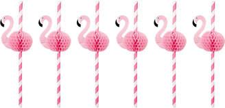 Sunnylife Flamingo honeycomb straws $8 thestylecure.com