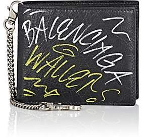 Balenciaga Men's Arena Leather Explorer Chain Wallet