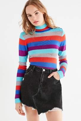 BDG Asymmetrical Denim Mini Skirt