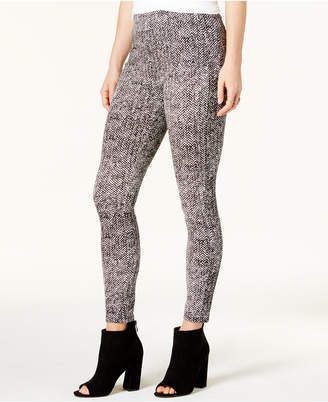 Bar III Chevron-Print Mid-Rise Leggings