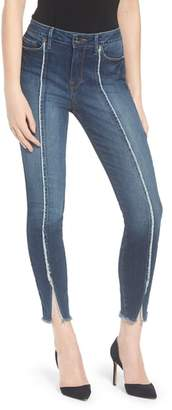 Good American Good Jeans Raw Seam Crop Skinny Jeans