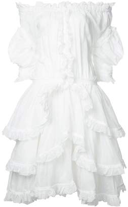 Faith Connexion ruffled off shoulder dress