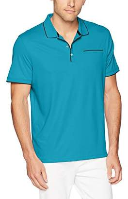 Calvin Klein Men's Short Sleeve Cotton Fashion Polo Shirt