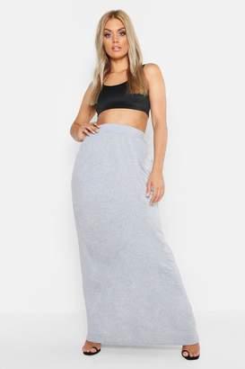5c085b3379e boohoo Plus Pocket Front Jersey Maxi Skirt