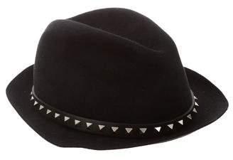 Valentino Rockstud Fedora Hat w/ Tags