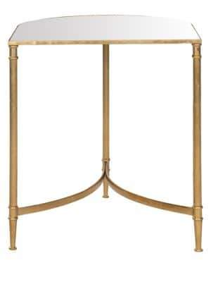 Safavieh Nevin Mirror Top Gold Accent Table