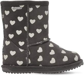Emu Hearts Glow-In-The-Dark Suede Boots