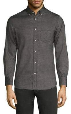 Officine Generale Antime Brushed Flannel Button-Down Shirt