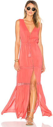 ale by alessandra Juliana Maxi Dress in Coral $198 thestylecure.com