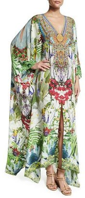 Camilla Embellished Caftan w/Split Front & Sleeves, Exotic Hypnotic $700 thestylecure.com