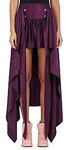 Sies Marjan SIES MARJAN WOMEN'S MEGAN SILK HIGH-LOW SKIRT - PLUM SIZE 6