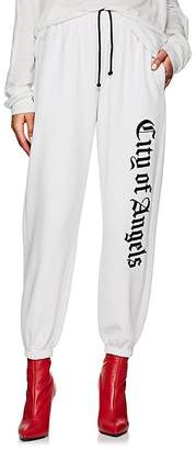 """ADAPTATION Women's """"City Of Angels"""" Embroidered Cotton Terry Sweatpants"""