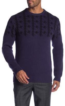 Ben Sherman Long Sleeve Dogtooth Crew Neck Sweater