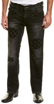 True Religion Distressed Exxd Checkered Straight Leg