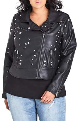 City Chic Rock Stud Jacket