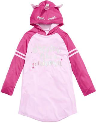 LTB Max & Olivia Little & Big Girls Hooded Unicorn Nightgown