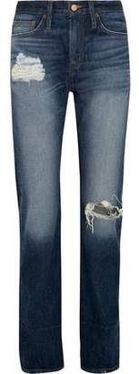 J.Crew Distressed High-Rise Boyfriend Jeans
