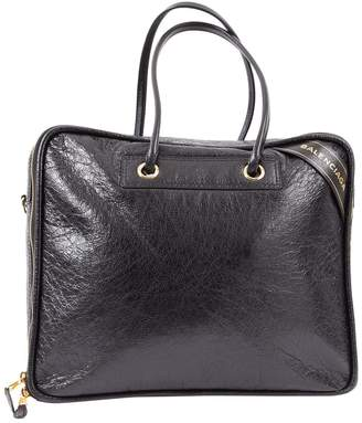 Balenciaga Blanket Black Leather Handbag