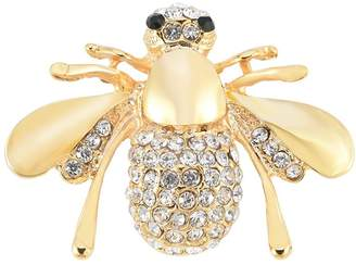 SJ SHI JUN Tone and Yellow Bee Brooch Pin Jewelry