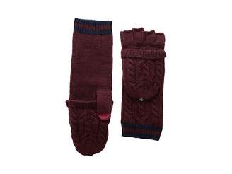 Lauren Ralph Lauren Cable Pop Top Touch Gloves