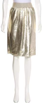 Dolce & Gabbana Metallic Knee-Length Skirt