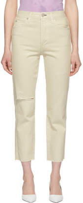 Amo White Loverboy High-Rise Straight Jeans
