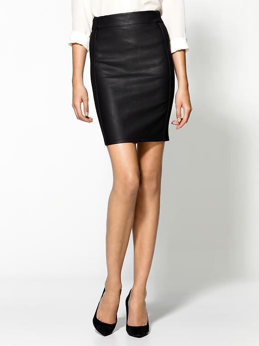 Sanctuary Vegan Leather Ponte Pencil Skirt