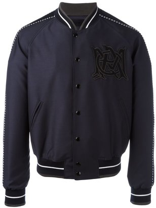Alexander McQueen insignia bomber jacket $1,725 thestylecure.com
