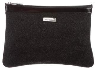 Dolce & Gabbana Leather-Trimmed Felt Pouch
