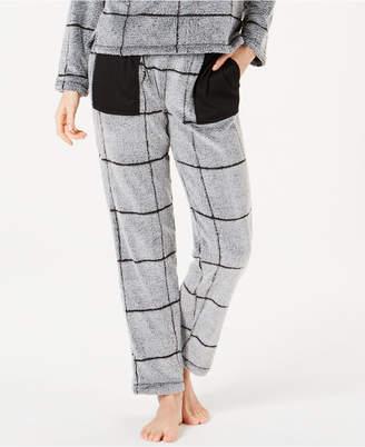Ande Burnout Check Fleece Pajama Pants