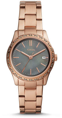 Fossil Adalyn Three-Hand Date Rose Gold-Tone Stainless Steel Watch