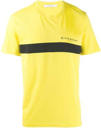Givenchy front stripe print T-shirt