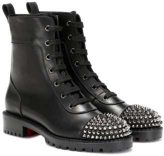 Christian Louboutin Spike-embellished ankle boots
