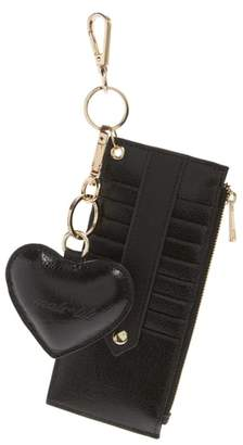 MALI AND LILI Mali + Lili Sydney Vegan Leather Card Case with Heart Charm