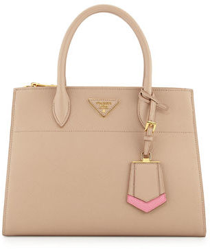Prada Medium Saffiano Greca Paradigm Tote Bag $2,710 thestylecure.com