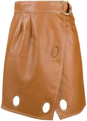 Self-Portrait eyelet skirt