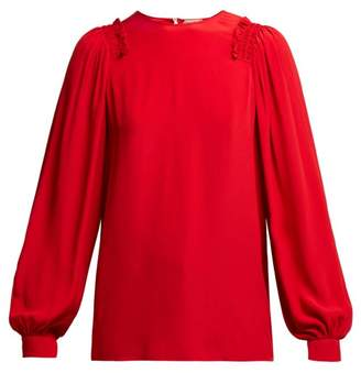 Red Silk Blouse Shopstyle