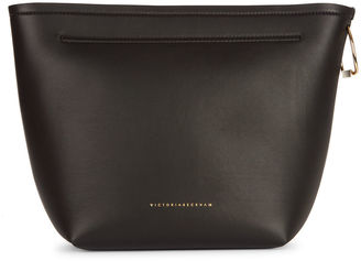 Victoria By Victoria Beckham Black Nappa Leather Tissue Bag