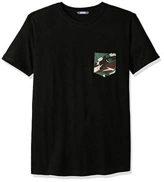 ROBUST Men's Half Sleeve Round Neck T-Shirt with Army Print Pocket (Size-)