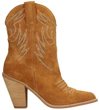Jeffrey Campbell Light Brown Suede Ankle Boots
